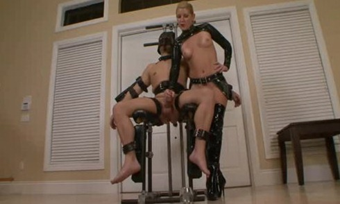 male slave forced to cum