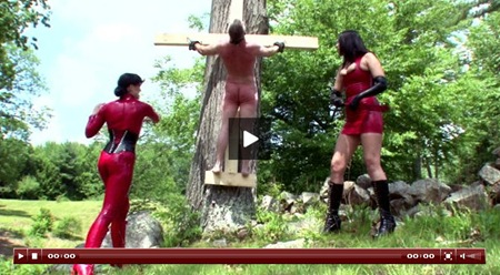 crucified dude gets whipped